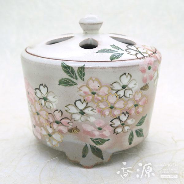 京焼・清水焼 香炉 乾山手(けんざんて) みやこ桜