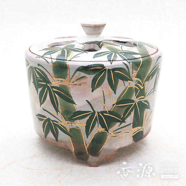 京焼・清水焼 香炉 乾山手(けんざんて) 竹