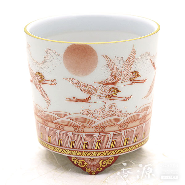 Limited Edition Kutani porcelain incense oven ware crane [Fu traditional]