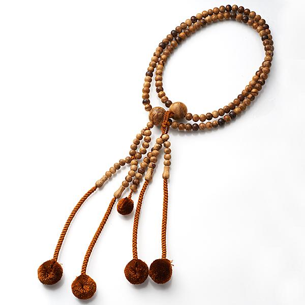 男性用お数珠 インドネシア産 上沈香 三双法華 日蓮宗 共仕立て