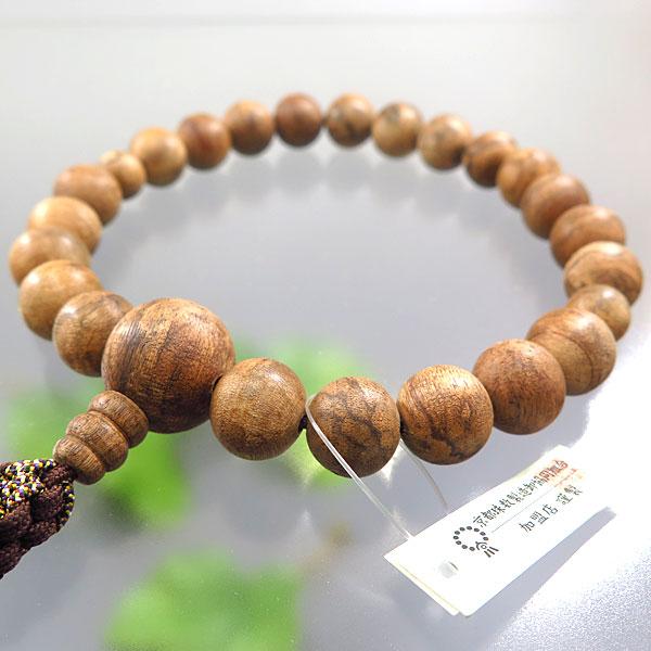 男性用お数珠 マレーシア産沈香 22玉 共仕立て 限定品