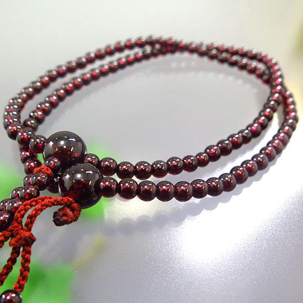 女性用お数珠 ガーネット 二双 日蓮宗 共仕立て 限定品