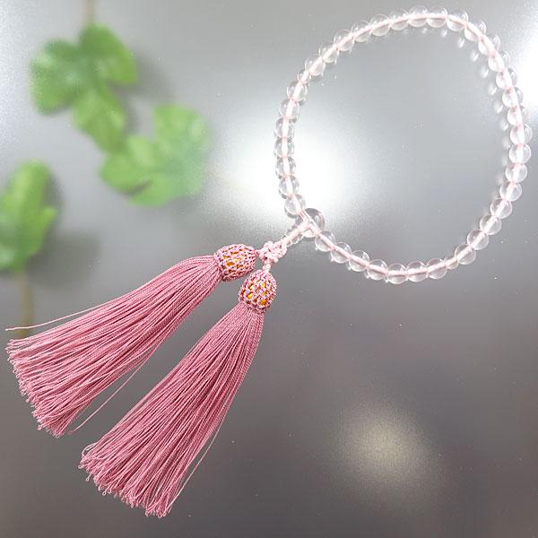 女性用お数珠 紅水晶 7mm玉 共仕立て 限定品