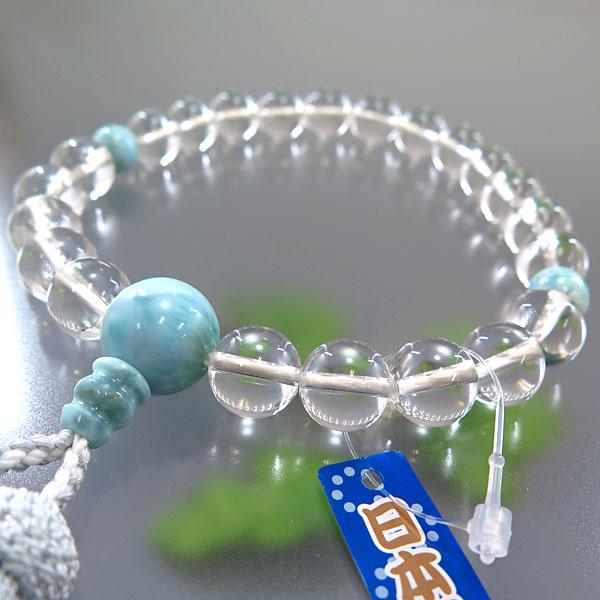 男性用お数珠 水晶 22玉 ラリマー仕立て 限定品