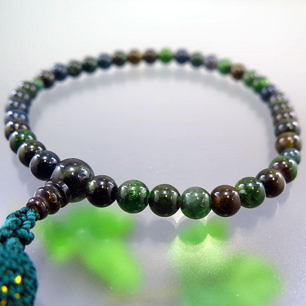 女性用お数珠 グリーントルマリン 7mm玉 共仕立て 限定品