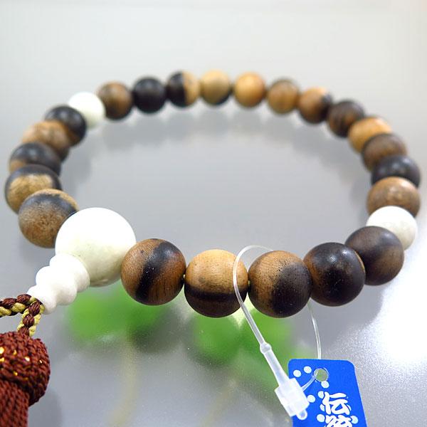 男性用お数珠 黒柿 22玉 糸魚川翡翠 頭房 限定品