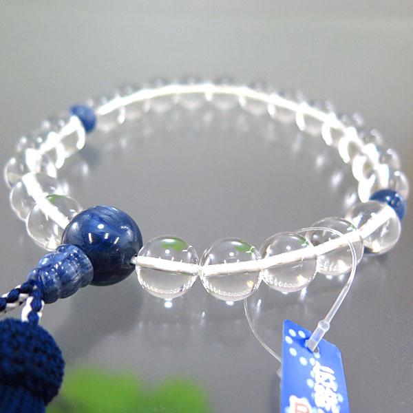 男性用数珠 水晶 22玉 カイヤナイト仕立て 限定品