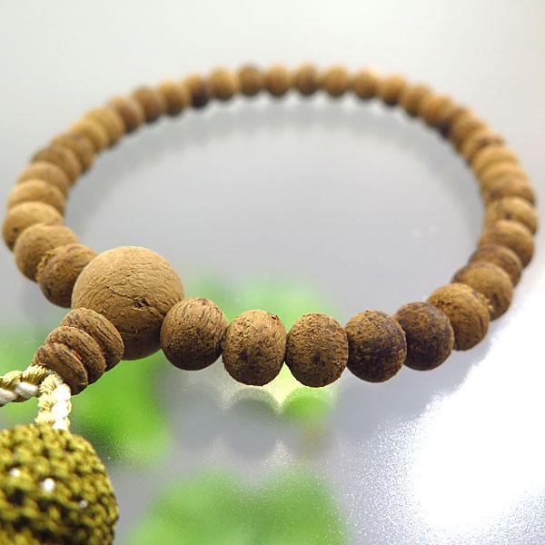 女性用お数珠 インドネシア産 沈香 7mm 共仕立て 頭房 限定品