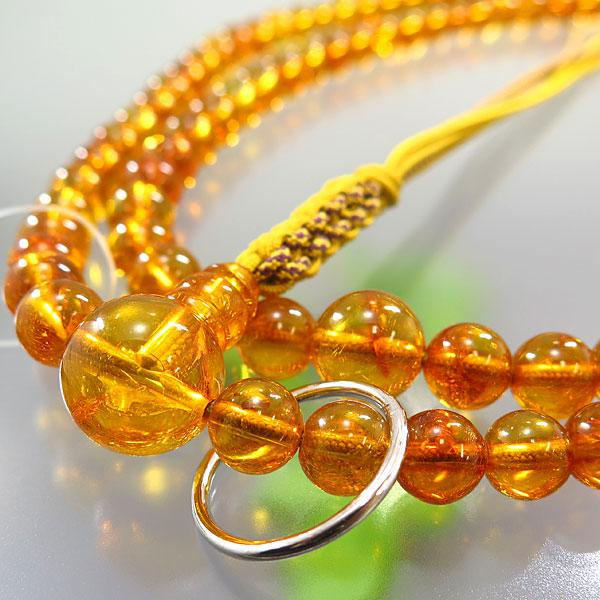 男性用お数珠 本琥珀 曹洞宗 尺六 共仕立て 限定品
