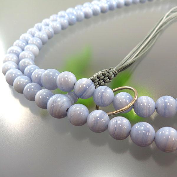 男性用お数珠 カルセドニー 2尺 曹洞宗 共仕立て 限定品