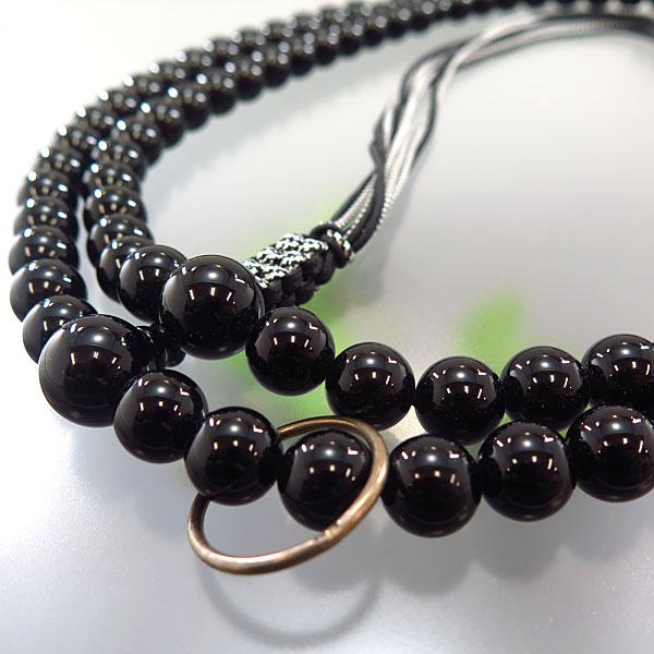 男性用お数珠 ブラックオニキス 二尺 曹洞宗 共仕立て 限定品