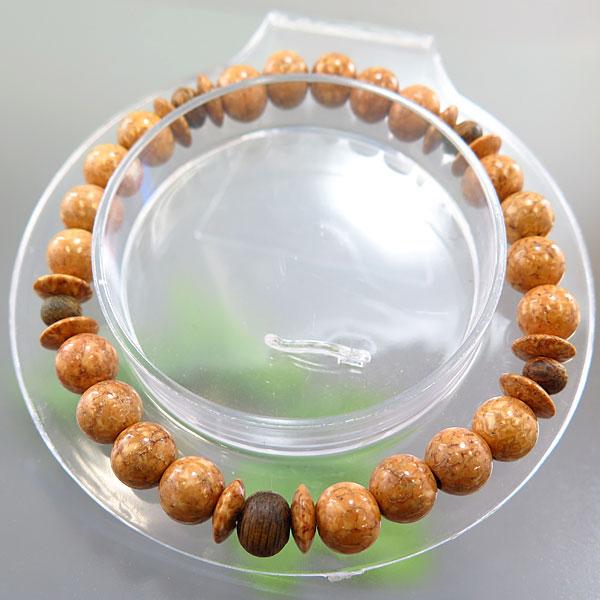 天竺菩提樹 7mm玉 ブレスレット 緑油伽羅仕立て 限定品