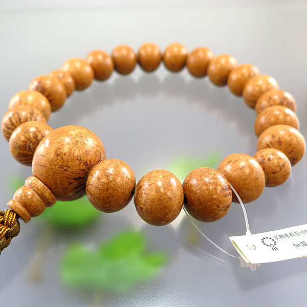 男性用お数珠 天竺菩提樹 20玉 共仕立て 紐房