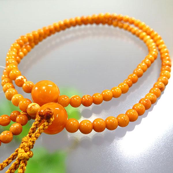 男性用お数珠 日蓮宗 老琥珀 尺 共仕立て 限定品