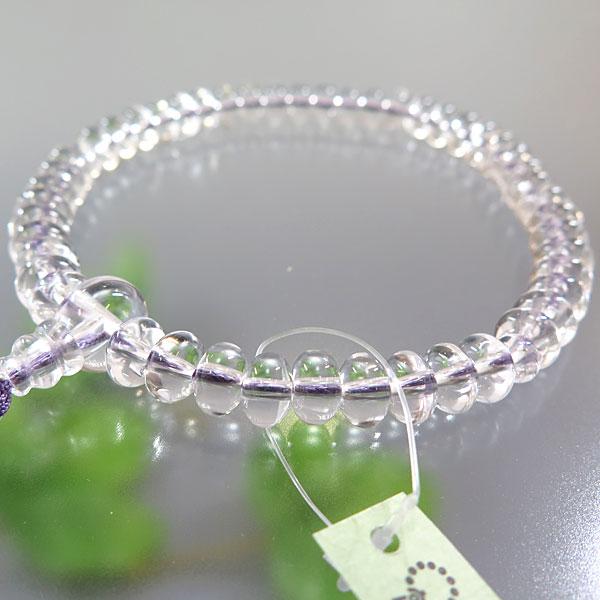 女性用お数珠 水晶 みかん玉 共仕立て 紐房(藤房)