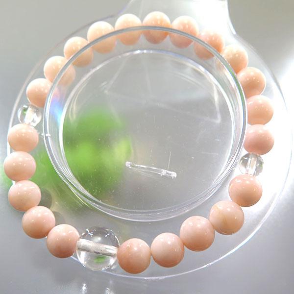 ピンクオパール 8mm玉 水晶仕立て