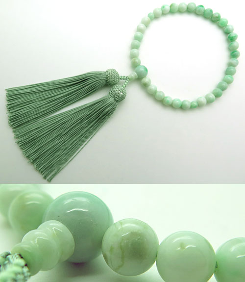 数珠 女性用 糸魚川翡翠 8mm玉 共仕立て 限定品