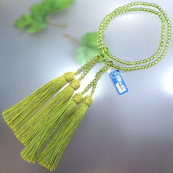 女性用 数珠 最高級ペリドット 八宗兼用 共仕立て 限定品
