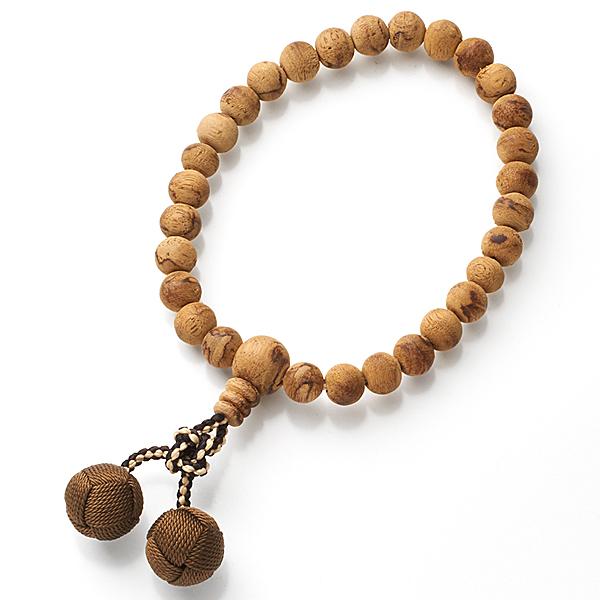 数珠 男性用 インドネシア産 沈香 27玉 共仕立て かがり梵天