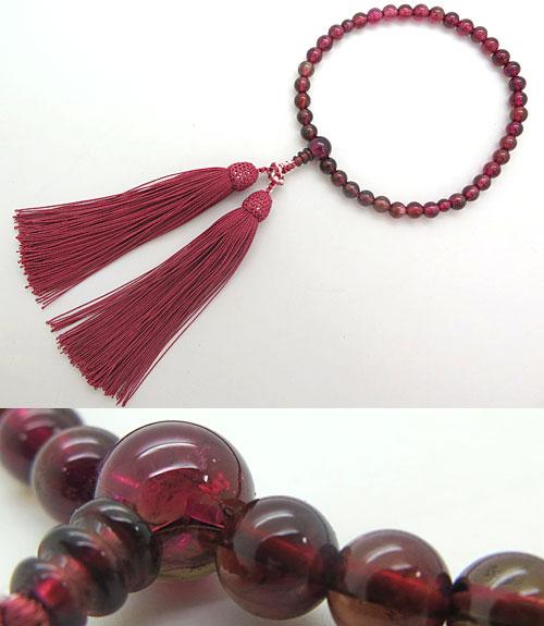 女性用 数珠 最高級ピンクトルマリン 7mm玉 共仕立て 限定品 送料無料 念珠