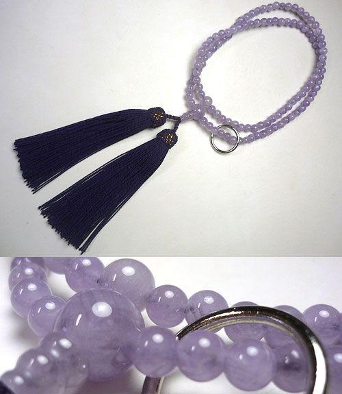 女性用のお数珠 藤雲石 曹洞宗 共仕立て 藤房