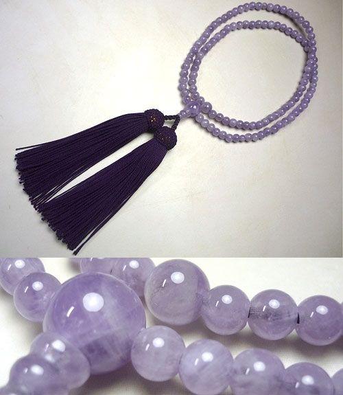 女性用のお数珠 藤雲石 臨済宗 共仕立て 藤房