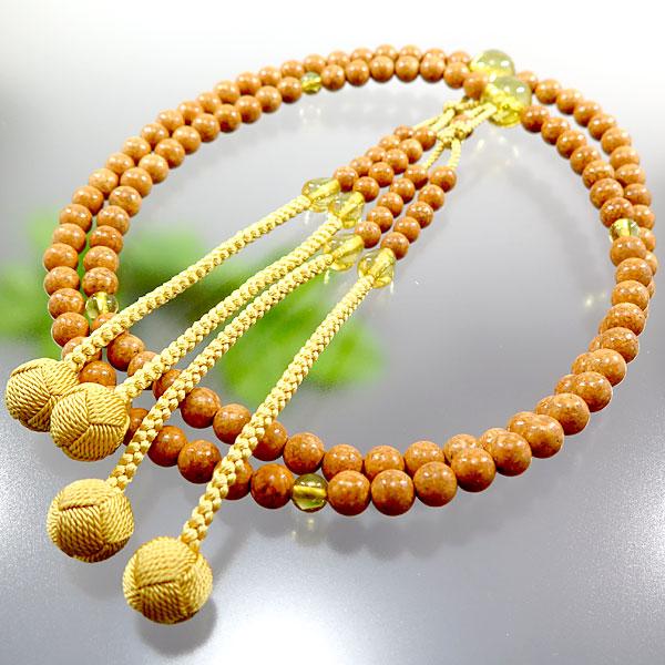 男性用数珠 天竺菩提樹 尺二 真言宗 天然琥珀仕立て 限定品