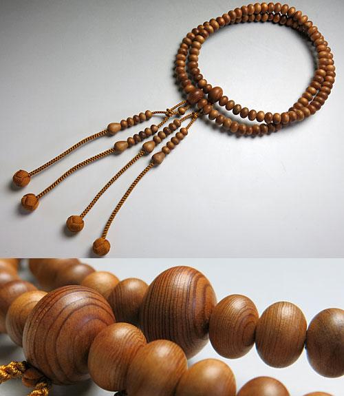 男性用のお数珠 屋久杉 共仕立て 真言宗 尺三 平玉【数珠】【念珠】【真言宗】