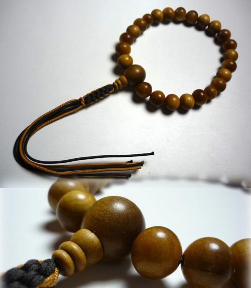 男性用のお数珠 白檀22玉 紐房w321-2