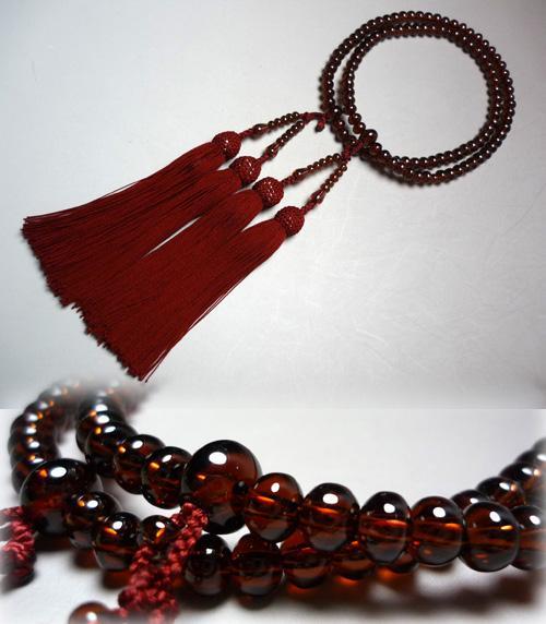 女性用お数珠 アフリカガーネット 八宗兼用