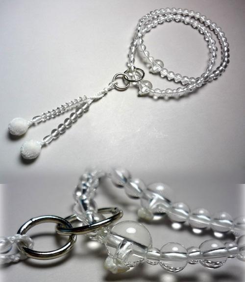 女性用のお数珠 水晶共仕立 浄土宗