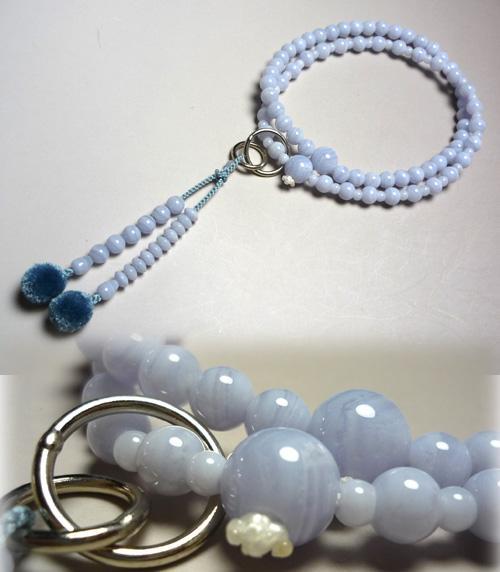 女性用お数珠 カルセドニー 浄土宗