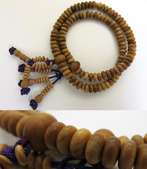 【送料無料】宗派別正式腕輪 日蓮宗 上質インドマイオール産白檀 共仕立て 紫通し