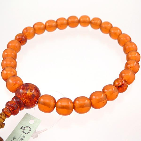 大割引 男性用数珠 琥珀 24玉 圧縮琥珀仕立て a 限定品, カミオカマチ 67dee1c2