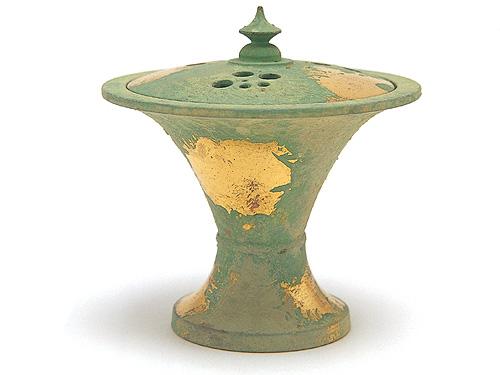 高岡銅器 香炉 末広香炉 本金青銅色