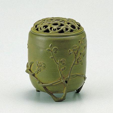 高岡銅器 香炉 伝芳文香炉 青銅色