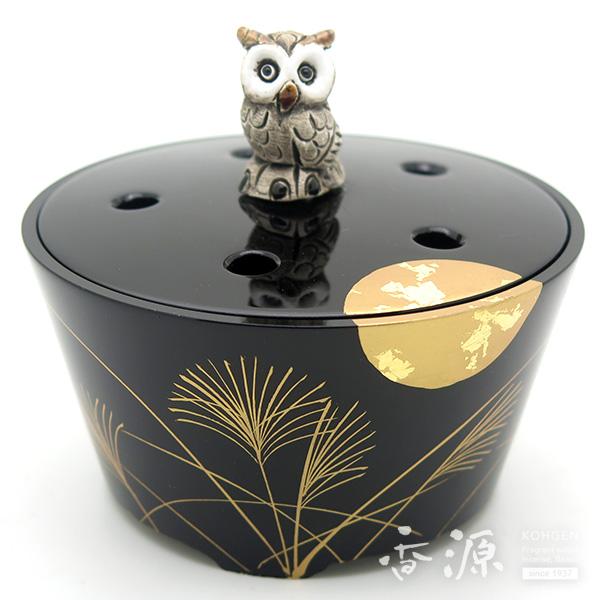 高岡銅器 香炉 月夜香炉 蒔絵