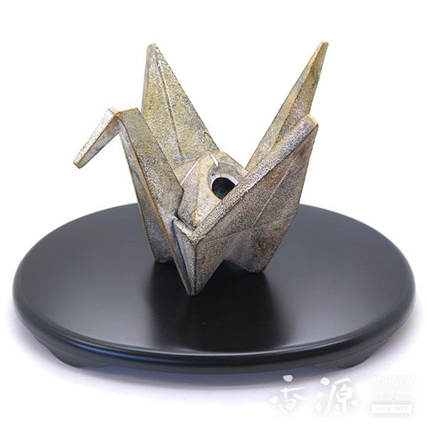 高岡銅器 ストア 香炉 折鶴香炉 古金色 2020モデル 大