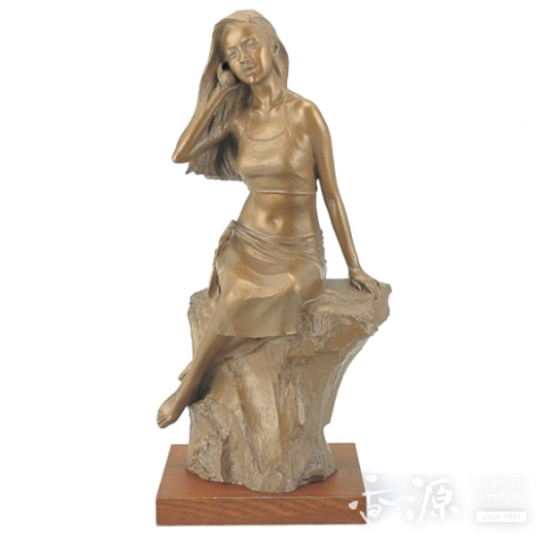 高岡銅器 置物 銅製 潮風の唄 小 大道寺光弘作