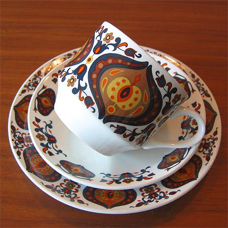 Retro antique Dinnerware vintage go 60s trio (1 set) MIDWINTER BENGAL mid-century CAP and Sosa and cake plate set 02P23Apr16 & KOHI NEW ZEALAND GIFTS | Rakuten Global Market: Retro antique ...