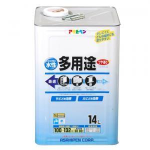 アサヒペン 水性多用途 ツヤあり 白 14L【ラッキーシール対応】