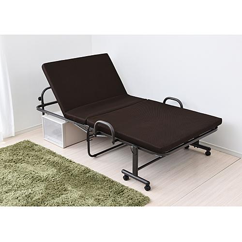折り畳み低反発ベッド  KR18-0066 ベッド シングル 折りたたみベッド シングルベッド 低反発 簡易ベッド 低反発ベッド 低反発マットレス コンパクト ベット 折り畳みベッド 折り畳み リクライニングベッド コーナン