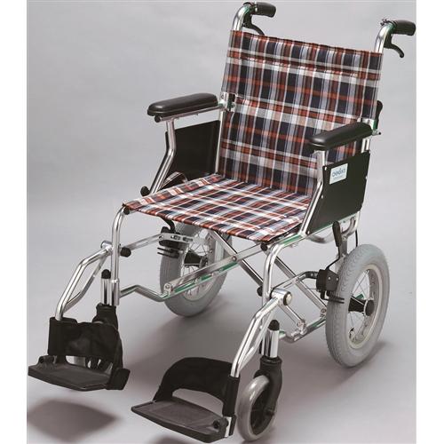 チノンズ 軽量コンパクト車椅子 12インチチェック柄【ラッキーシール対応】