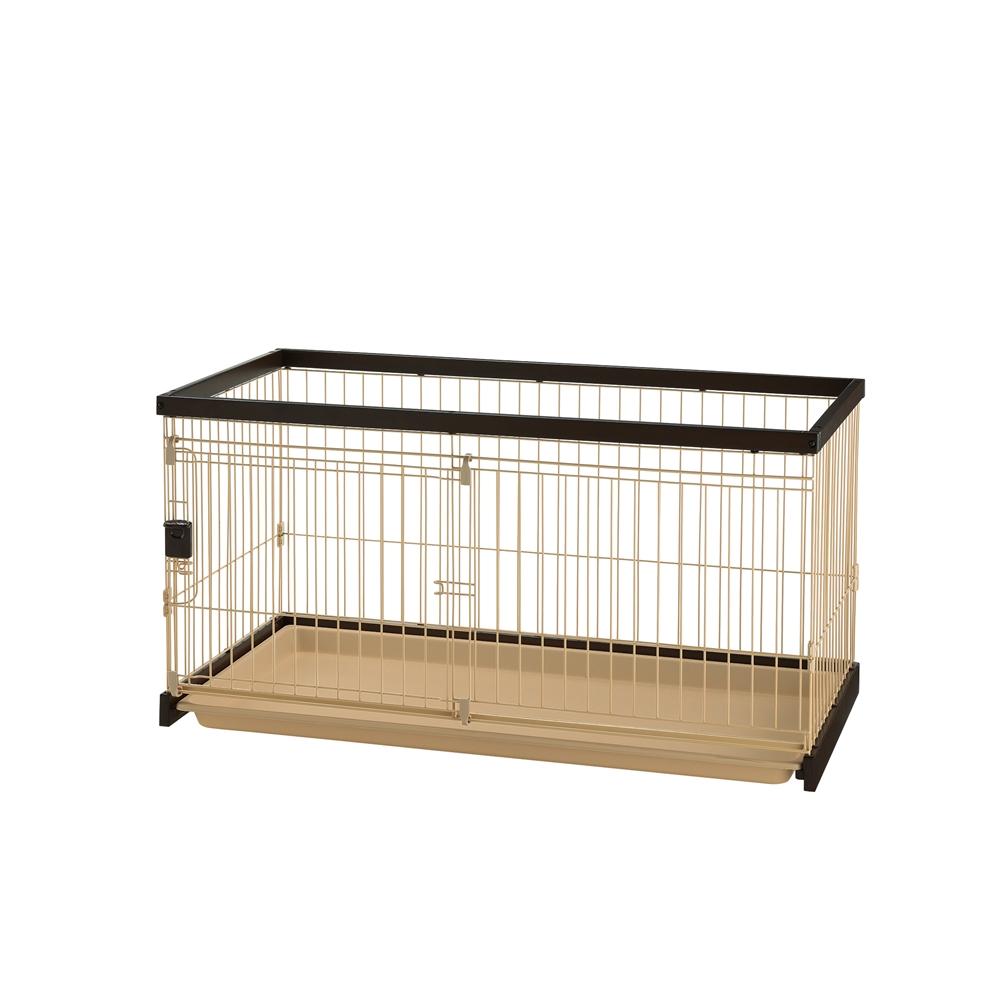 リッチェル 木製お掃除簡単ペットサークル 120-60ダークブラウン【ラッキーシール対応】