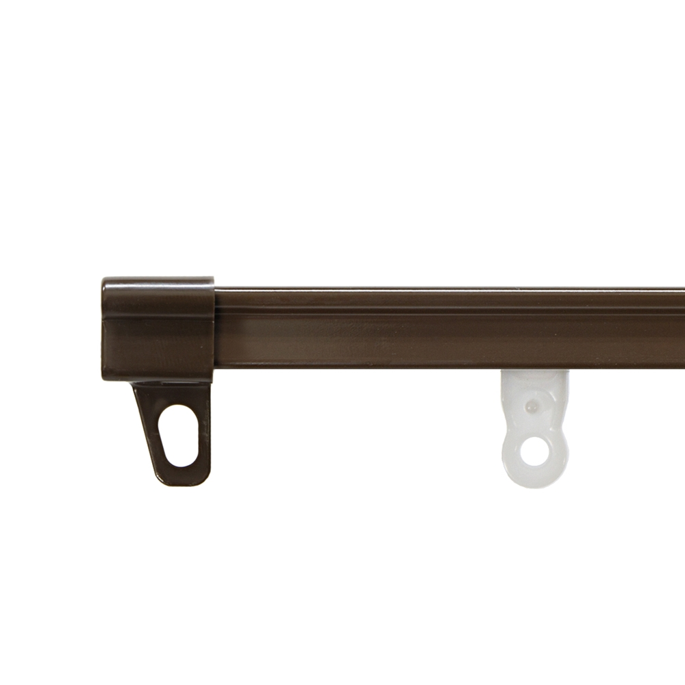 シンプルなデザインのカーテンレール OUTLET SALE 伸縮静音レール ブラウン S2.0 カーテンレール シングル 1.10m コーナン お歳暮 角型 2.00m シングルレール 伸縮レール