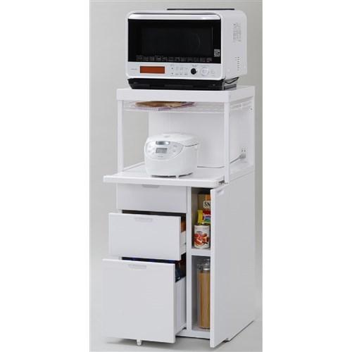 エムケー精工 ファインキッチン CB-339W レンジ台 スライド 60幅 キッチンラック キッチン収納 スライド棚 日本製