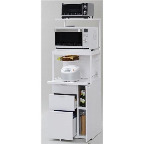 エムケー精工 ファインキッチン CBU-339W レンジ台 スライド 60幅 キッチンラック キッチン収納 スライド棚 日本製