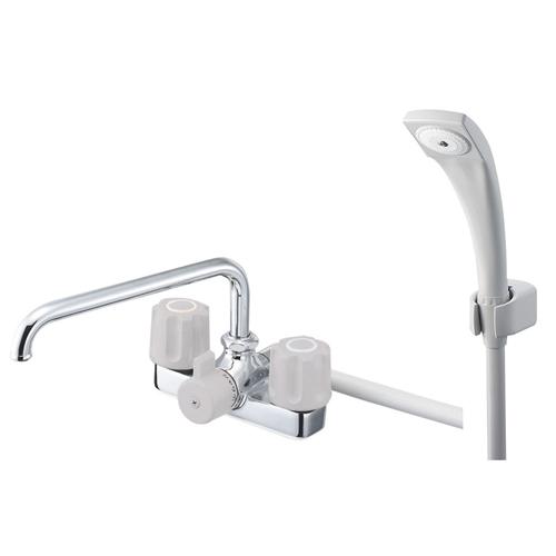 三栄水栓 ツーバルブデッキシャワー混合栓 SK710【ラッキーシール対応】