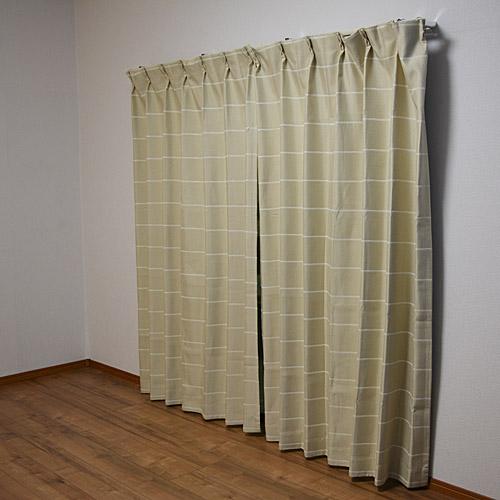 カーテンカルムIV 約100×210cm2P カーテン 厚地カーテン 遮光 かわいい おしゃれ 生地 既製品 無地 可愛い 出窓 形状記憶 2枚組 コーナン