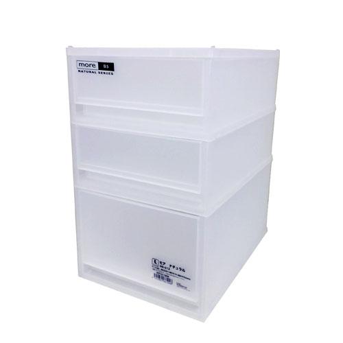B5サイズが入る大きさ。 モア ナチュラル NB-512 KIT18-1008 衣装ケース 衣装ボックス 収納 収納ボックス 衣類収納 押入れ収納ボックス 収納家具 クローゼット プラスチック 収納用品 収納ケース 引き出し コンパクト コーナン